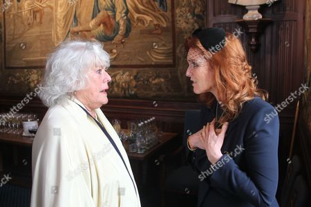 Anne Hart with Sarah Ferguson Duchess of York, representing HRH Prince Andrew.