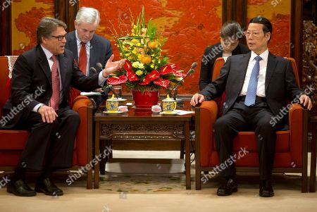 Rick Perry, Zhang Gaoli U.S. Energy Secretary Rick Perry, left, chats with Chinese Vice Premier Zhang Gaoli during a meeting at the Zhongnanhai leaders compound in Beijing