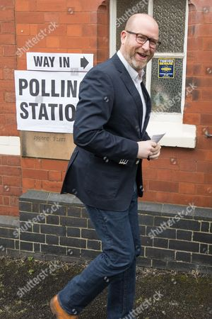 UKIP leader Paul Nuttall arrives to vote in the general election at a polling station in Rood Lane Methodist Church.
