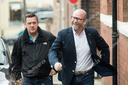 Stock Photo of UKIP leader Paul Nuttall arrives to vote in the general election at a polling station in Rood Lane Methodist Church.