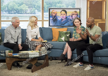Phillip Schofield and Holly Willoughby with Laura Fraser and Don Gilet
