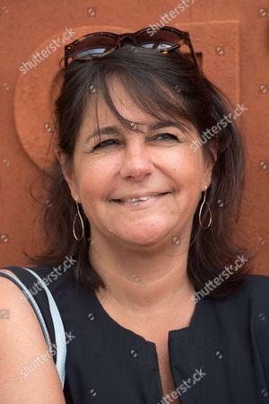 Valerie Expert arrives at the Village of Roland Garros