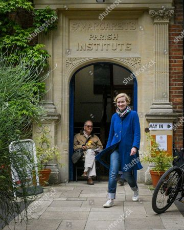 Nicola Blackwood, Conservative MP for Oxford West and Abingdon marginal seat, leaves the polling station in Oxford West and Abingdon