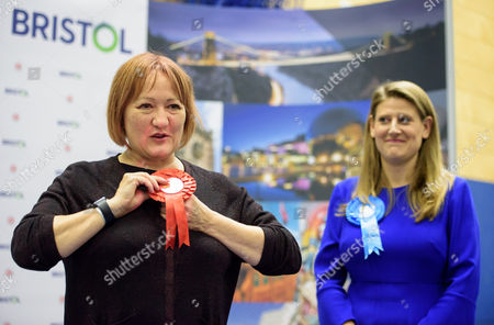 Kerry McCarthy wins Bristol East for Labour at City of Bristol Academy, beating Tory candidate THEO CLARKE