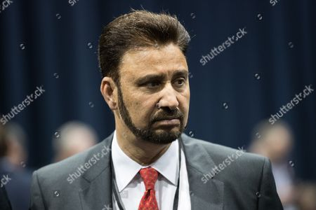Afzal Khan of Labour Party at the Manchester Central Convention Centre where the count for the constituencies of Blackley and Broughton, Manchester Central, Manchester Gorton, Manchester Withington and Wythenshawe and Sale East, in the General Election, is taking place.