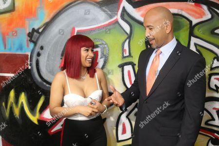 Cardi B and Ruben Diaz Jr.
