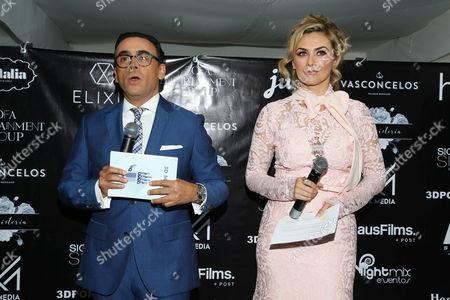 Adal Ramones and Aracely Arambula