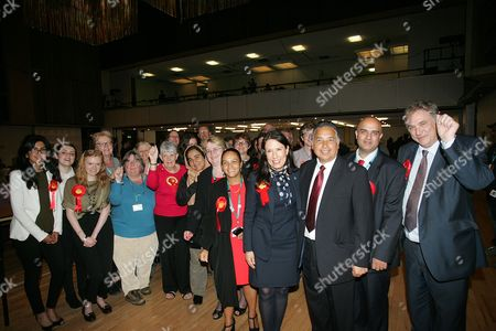 Debbie Abrahams. with supporters