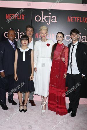Giancarlo Esposito, Ahn Seo Hyun, Brad Pitt, Tilda Swinton, Lily Collins and Devon Bostick