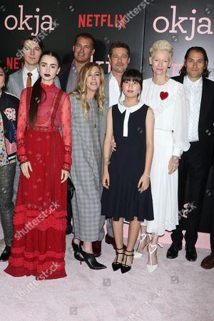 Paul Dano, Lily Collins, Dede Gardner, Erik Jan de Boer, Brad Pitt, Seo-Hyeon Ahn, Tilda Swinton, Jeremy Kleiner