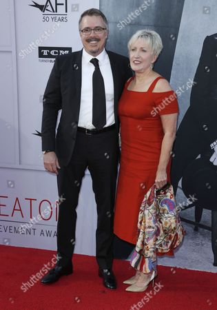 Holly Rice and Vince Gilligan