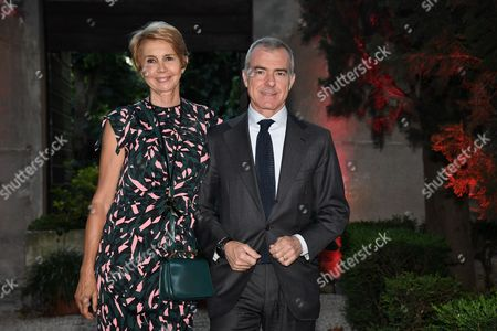 Giampaolo Letta with wife Rossana Ridolfi