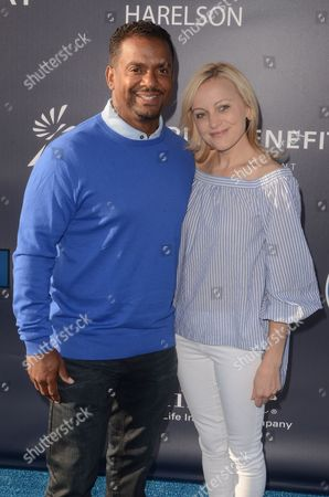 Alfonso Ribeiro and Angela Unkrich