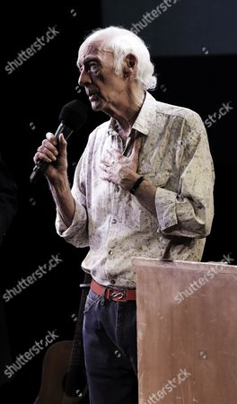Roger McGough performing with Little Machine