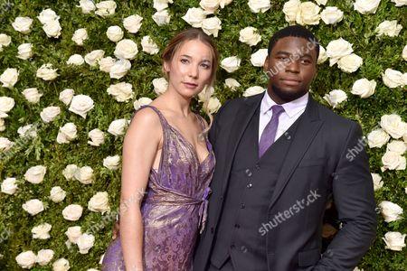 Stock Picture of Alyssa Kempinski and Okieriete Onaodowan