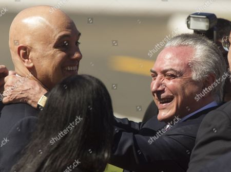 Stock Picture of Michel Temer and Alexandre de Moraes