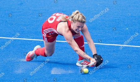 Hollie Webb in action
