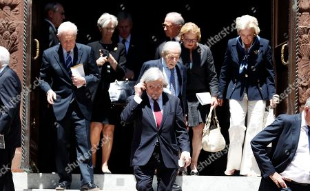 Guests depart after the funeral service for Zbigniew Brzezinski, who served as national security adviser to President Jimmy Carter, at the Cathedral of Saint Matthew the Apostle, in Washington. He was 89