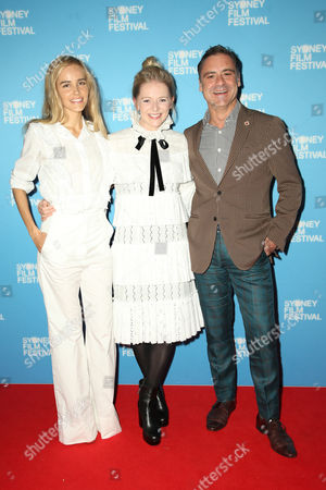 L-R: Isabel Lucas, Alice Foulcher and Andrew O'Keefe
