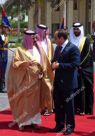 Editorial photo of King of Bahrain Hamad bin Issa al-Khalifa visit to Cairo - 09 Jun 2017