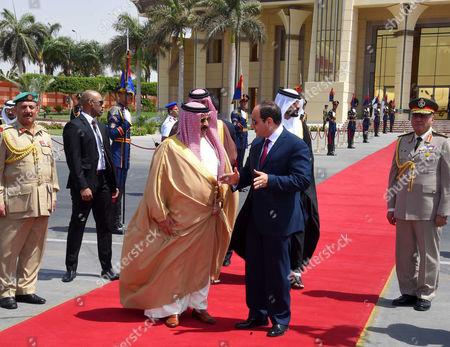 Editorial image of King of Bahrain Hamad bin Issa al-Khalifa visit to Cairo - 09 Jun 2017