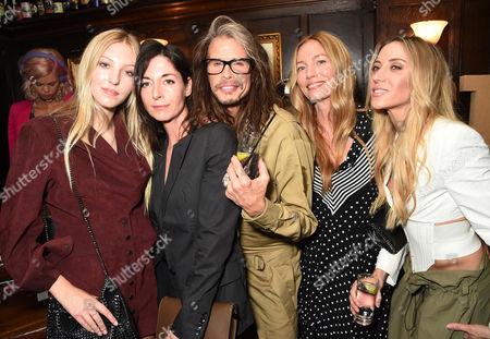 Ella Richards, Mary McCartney, Steven Tyler, Lucie de la Falaise and Aimee Ann Preston