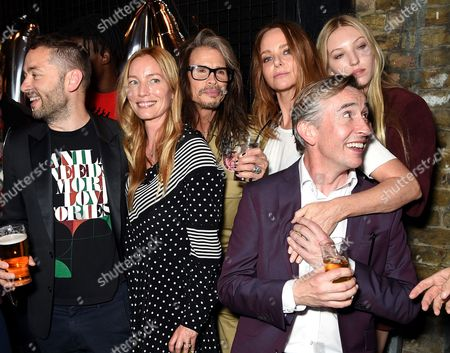 Stock Image of Sean Ellis, Lucie de la Falaise, Steven Tyler, Stella McCartney, Ella Richards and Steve Coogan
