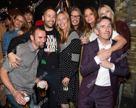 Stock Picture of Sean Ellis, Lucie de la Falaise, Steven Tyler, Stella McCartney, Ella Richards and Steve Coogan