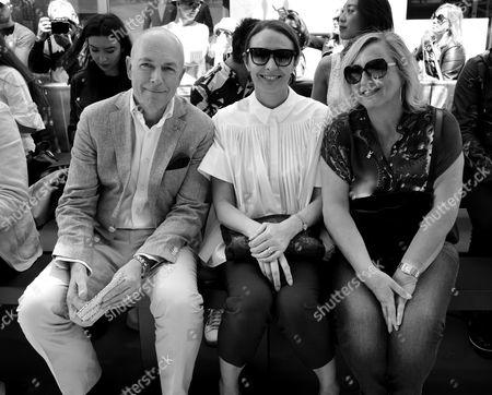 Editorial photo of John Smedley show, Front Row, Spring Summer 2018, London Fashion Week Men's, UK - 10 Jun 2017