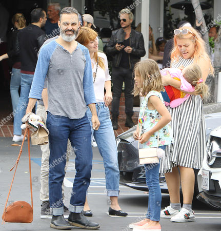 Editorial photo of Busy Phillips and family out and about, Los Angeles, USA - 10 Jun 2017