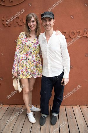 Calogero Maurici and his companion Marie Bastide attend the Men's Final