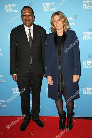 Nashen Moodley (Sydney Film Festival Director) and Amanda Sthers (Director)