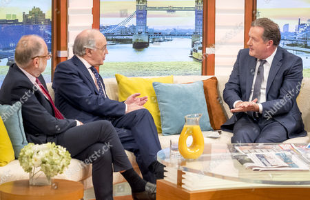 Lord Falconer and Michael Howard with Piers Morgan