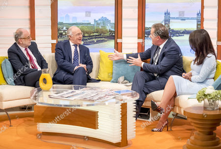 Stock Photo of Lord Falconer and Michael Howard with Piers Morgan and Susanna Reid