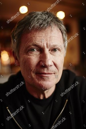 London United Kingdom - February 6: Portrait Of German Musician Michael Rother Photographed Before A Live Performance At Cafe Oto In London On February 6 2016. Rother Is Best Known As A Member Of Krautrock Groups Neu! And Kraftwerk