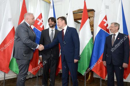 Mariusz Blaszczak, Sandor Pinter and Robert Kalinak