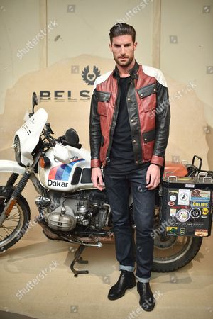 Ryan Barrett attends the Belstaff Spring/Summer 18 presentation 'Paris to Dakar' during London Fashion Week Men's June 2017, at Somerset House