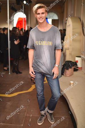 Sam Harwood attends the Belstaff Spring/Summer 18 presentation 'Paris to Dakar' during London Fashion Week Men's June 2017, at Somerset House
