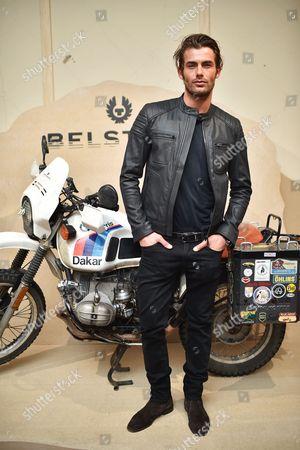 Stock Image of Jacey Elthalion attends the Belstaff Spring/Summer 18 presentation 'Paris to Dakar' during London Fashion Week Men's June 2017, at Somerset House