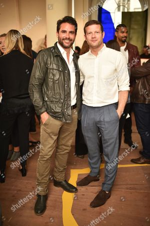 Levison Wood and Dermot O'Leary attend the Belstaff Spring/Summer 18 presentation 'Paris to Dakar' during London Fashion Week Men's June 2017, at Somerset House