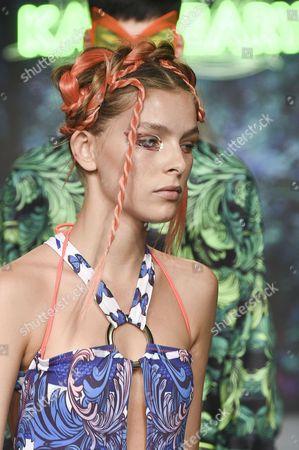 Editorial picture of Katie Eary show, Runway, Spring Summer 2018, London Fashion Week Men's, UK - 12 Jun 2017