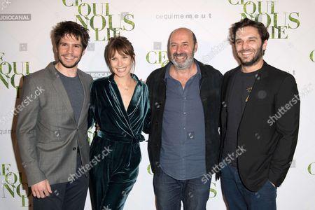 Francois Civil, Ana Girardot, Cedric Klapisch and Pio Marmai