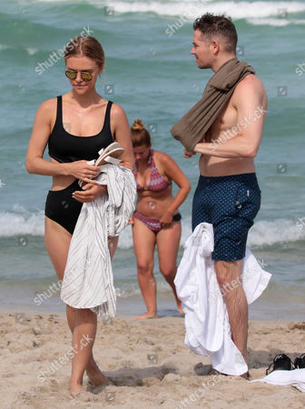 Editorial photo of Jason Kennedy and Lauren Scruggs out and about, Miami Beach, USA - 11 Jun 2017