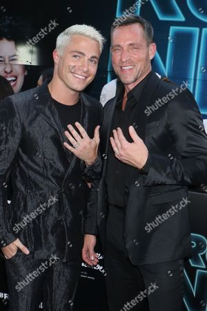 Colton Haynes and boyfriend Jeff Leatham show off their engagement rings