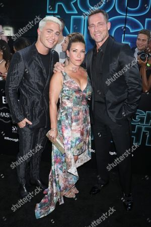 Colton Haynes, guest and Jeff Leatham