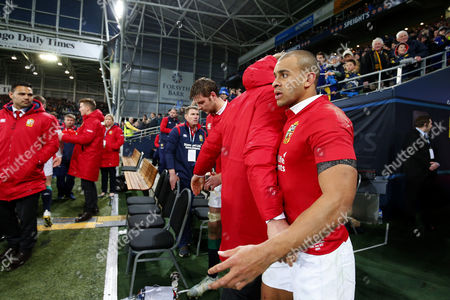 Jonathan Joseph is consoled at the end of the match