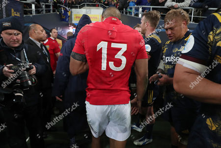 Highlanders vs British & Irish Lions. Lions' Jonathan Joseph leaves the field after the game