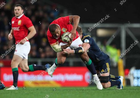 Highlanders vs British & Irish Lions. Lions' Jonathan Joseph on the attack