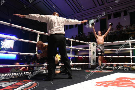 Stock Picture of Dean Richardson (grey shorts) defeats Zoltan Turai during a Boxing Show at York Hall on 10th June 2017