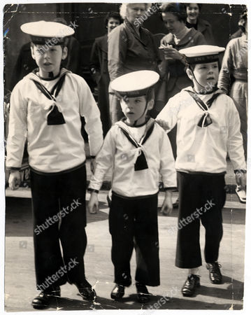 Editorial photo of 3rd Baron Hesketh (left) With His Brothers Hon Robert Hesketh (died 2/1997) (centre) And Hon John Hesketh. They Are Wearing Sailor Suits And Acting As Pageboys At The Wedding Of John Jacob Astor To Romana Von Hofmannsthal.